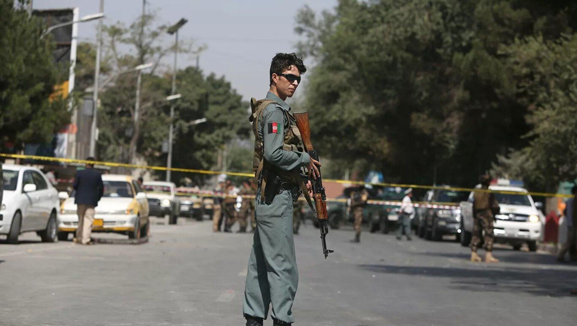 Место взрыва у посольства США в Кабуле, Афганистан - Sputnik Азербайджан, 1920, 07.08.2021