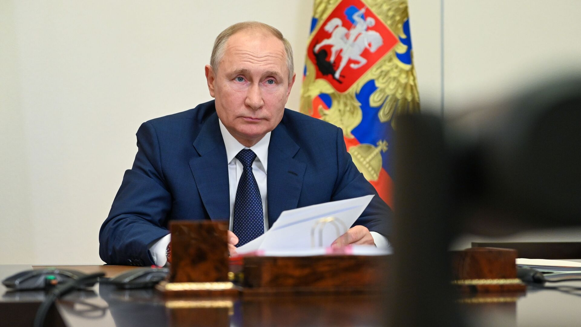 Президент РФ В. Путин провел встречу с членами паралимпийской команды России - Sputnik Азербайджан, 1920, 14.08.2021