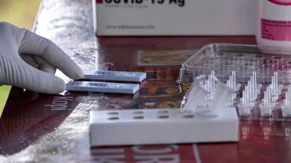 Тесты на коронавирус, фото из архива - Sputnik Azərbaycan