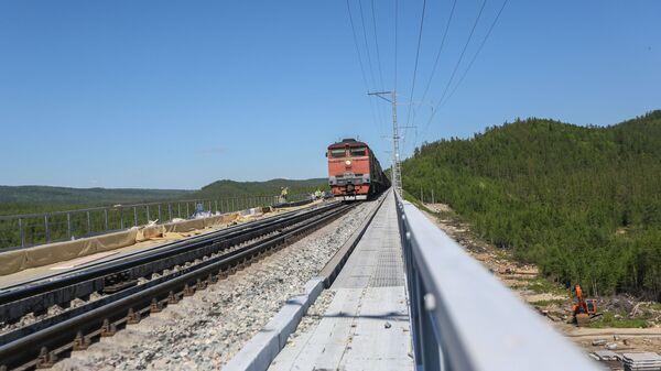 Строительство и реконструкция моста через реку Кованта в Амурской области - Sputnik Азербайджан