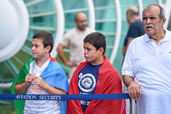 Встреча олимпийской сборной Азербайджана в аэропорту Гейдар Алиев в Баку. - Sputnik Азербайджан