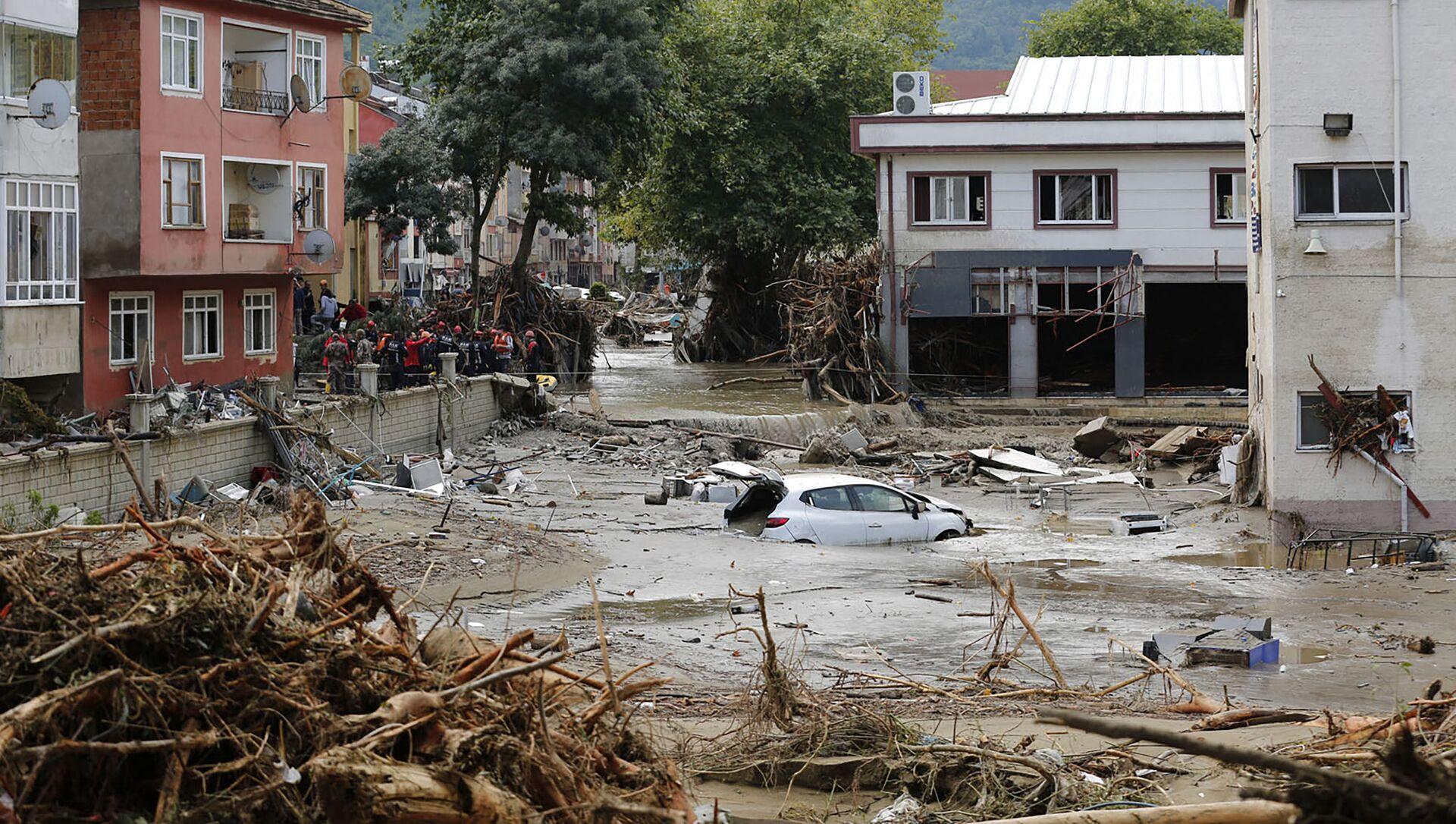 Наводнение в городе Кастамону, Турция - Sputnik Azərbaycan, 1920, 14.08.2021