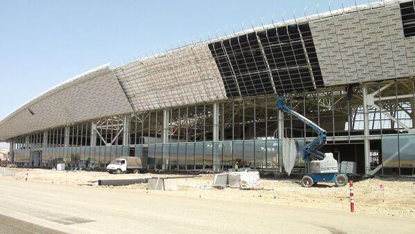 Füzulidə hava limanının tikintisində son tamamlanma işləri  - Sputnik Азербайджан