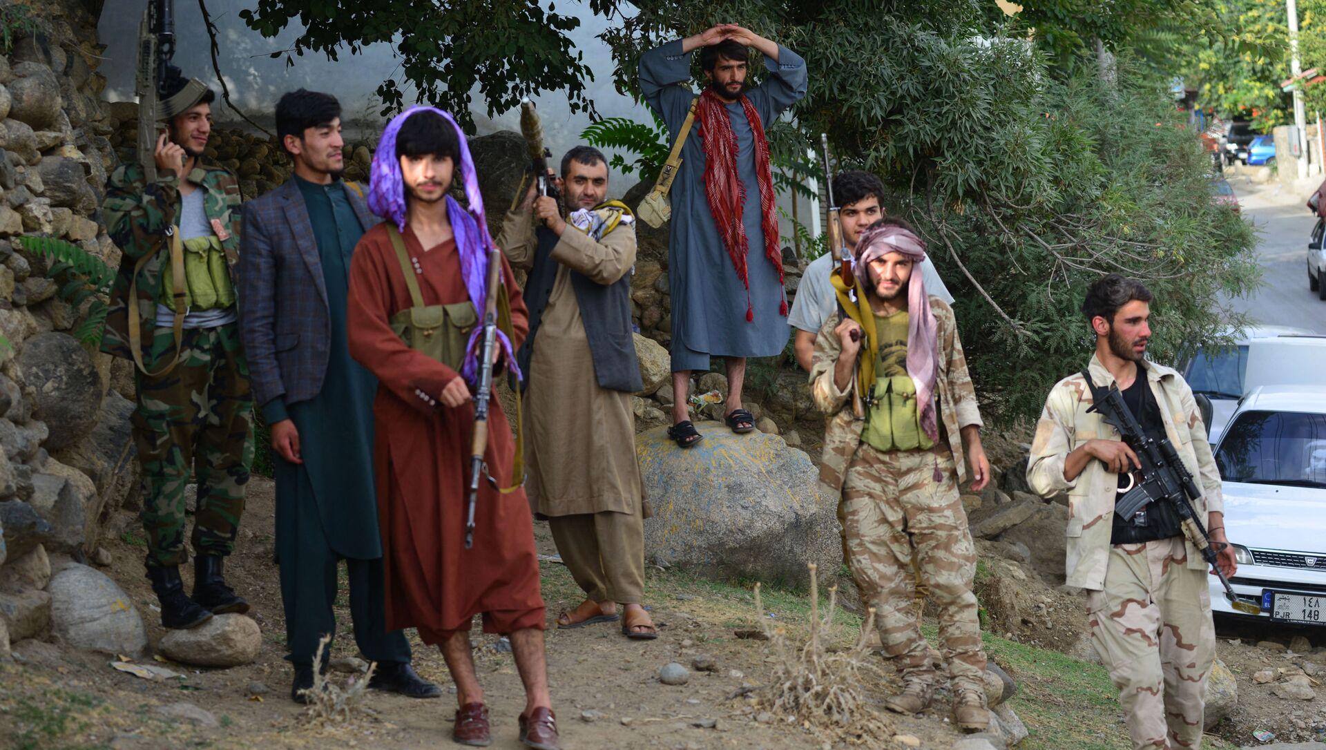 Боевики движения Талибан (террористическая группировка, запрещенная в РФ) в Кабуле - Sputnik Азербайджан, 1920, 03.09.2021