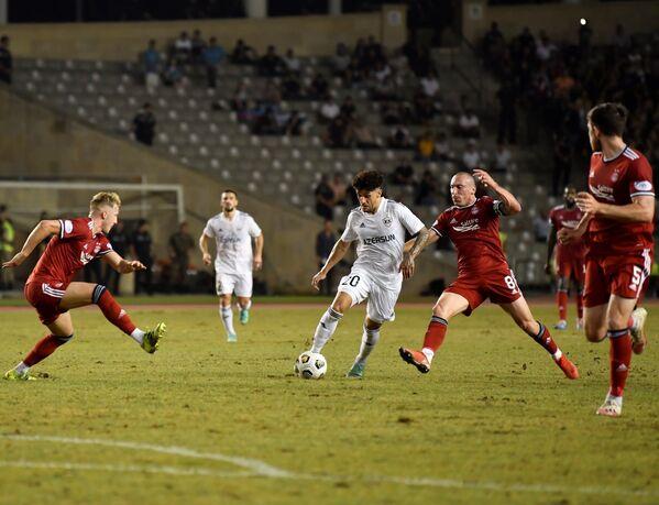 Матч этапа плей-офф Лиги конференций УЕФА между клубом Карабах и шотландским Абердином. - Sputnik Азербайджан