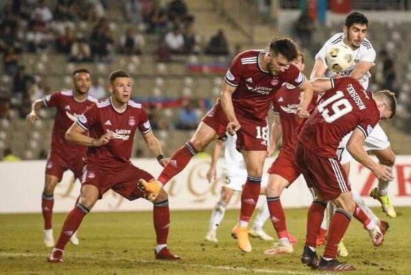 Матч этапа плей-офф Лиги конференций между клубом Карабах и шотландским Абердином. - Sputnik Азербайджан
