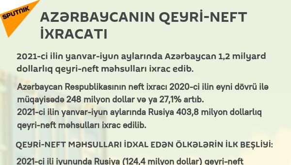 İNFOQRAFİKA: Azərbaycanın qeyri-neft sektoru - Sputnik Azərbaycan