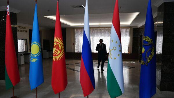 Флаги стран-участниц Организации Договора о коллективной безопасности (ОДКБ), фото из архива - Sputnik Азербайджан