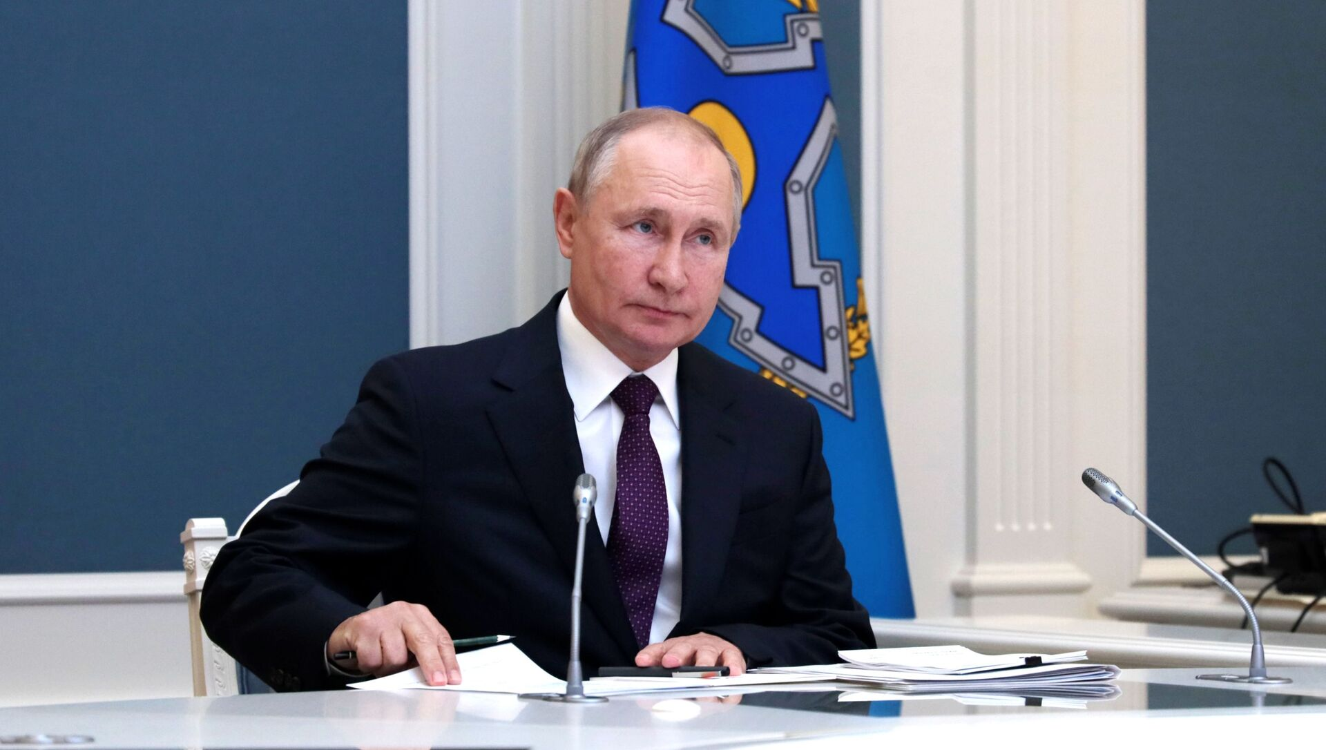 Президент РФ В. Путин принял участие во внеочередной сессии Совета коллективной безопасности ОДКБ - Sputnik Azərbaycan, 1920, 23.08.2021
