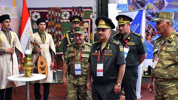 Заместитель министра обороны АР Низам Османов на торжественной церемонии открытия «Армейских международных игр – 2021» - Sputnik Azərbaycan