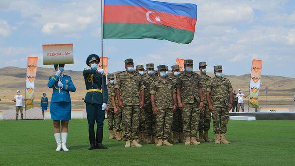 Qazaxıstanda Artilleriya atəşinin ustaları müsabiqəsinin açılış mərasimi - Sputnik Azərbaycan