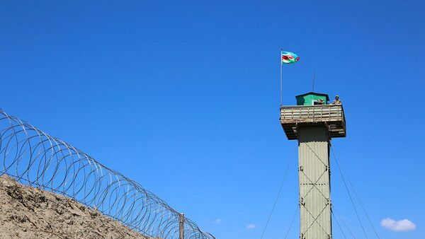 Пост азербайджанской армии на границе с Арменией - Sputnik Азербайджан