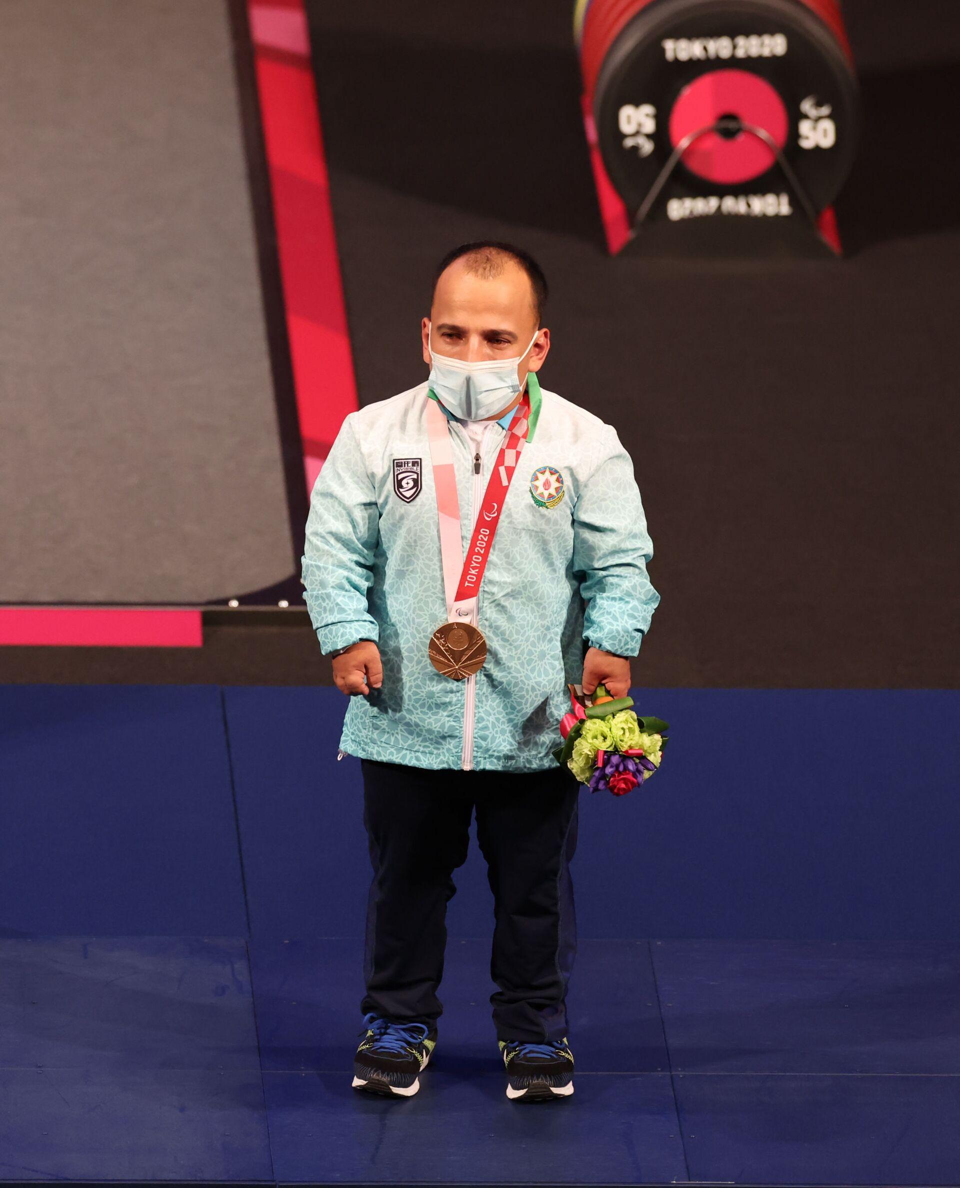 Азербайджанский пауэрлифтер Парвин Мамедов на Паралимпийских играх Токио-2020 - Sputnik Азербайджан, 1920, 01.10.2021