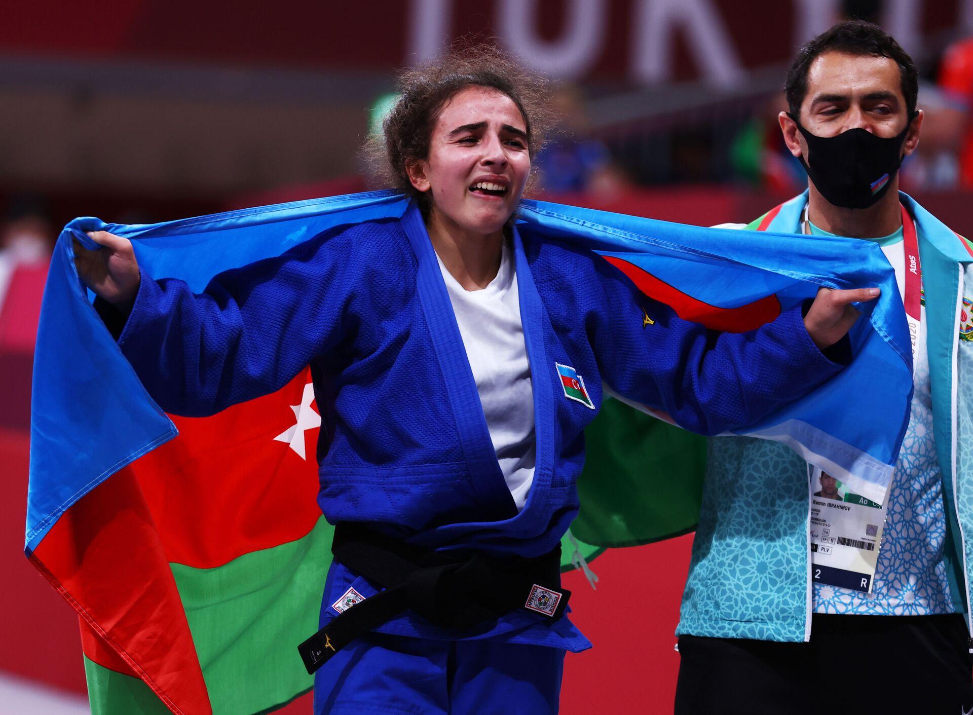 Азербайджанская дзюдоистка Шахана Гаджиева   - Sputnik Азербайджан, 1920, 01.10.2021