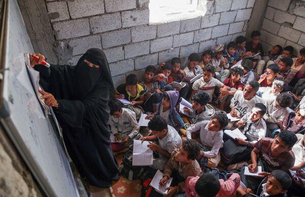 Урок в йеменской школе. - Sputnik Азербайджан