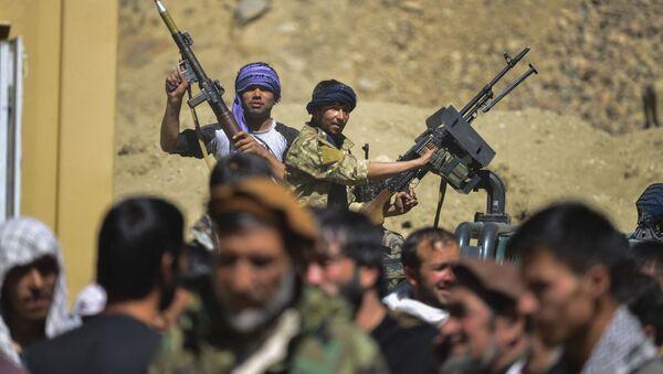 Силы сопротивления талибам (террористическая организация, запрещена в РФ) в провинции Панджшер - Sputnik Azərbaycan