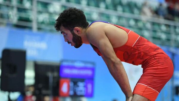 Азербайджанский борец греко-римского стиля Нихад Гулузаде (55 килограммов)  - Sputnik Азербайджан