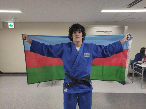 Дзюдоистка Ханым Гусейнова (63 килограмма) - победительница летних Паралимпийских игр Токио-2020 (золотая медаль). - Sputnik Азербайджан
