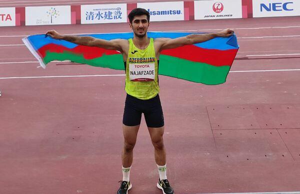 Прыгун в длину Саид Наджафзаде - бронзовый призер Паралимпийских игр Токио -2020. - Sputnik Азербайджан