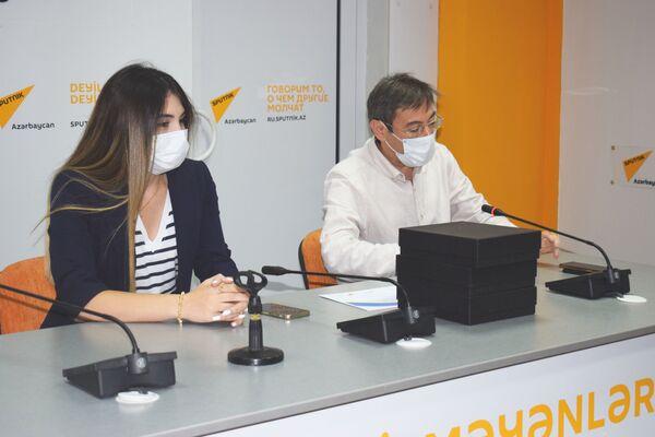 Церемония награждения победителей международного конкурса в мультимедийном пресс-центре Sputnik. - Sputnik Азербайджан
