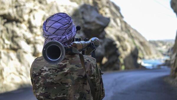 Бойцы афганского движение сопротивления Талибану* в провинции Панджшер - Sputnik Азербайджан