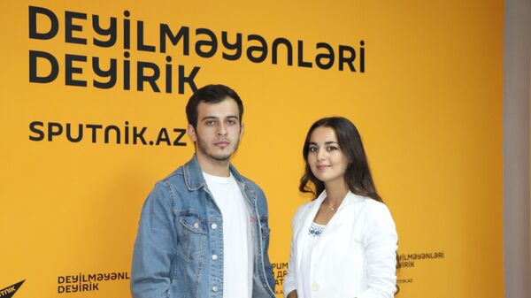 İranə Kərimova və Sənan Kazımov Sputnik-Azərbaycanın redaksiyasında - Sputnik Azərbaycan