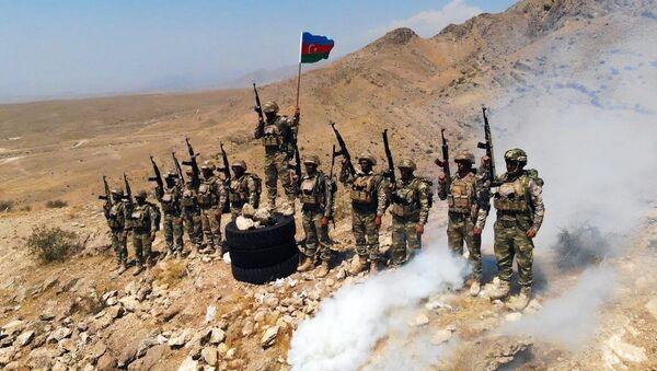Военнослужащие азербайджанской армии, фото из архива - Sputnik Азербайджан
