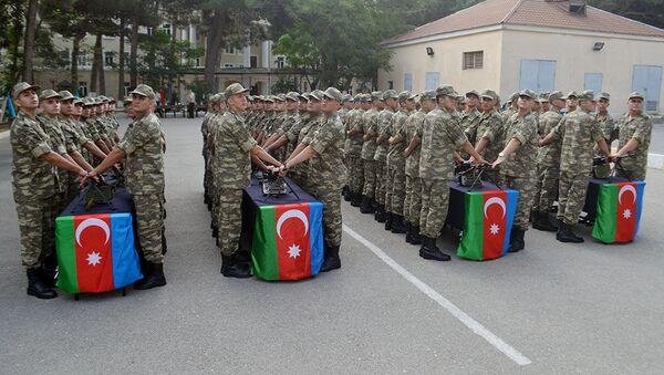 Hərbi tibb fakültəsi kursantlarının andiçmə mərasimi keçirilib - Sputnik Azərbaycan