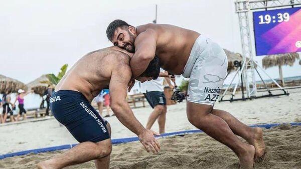 Пляжная борьба - Sputnik Азербайджан