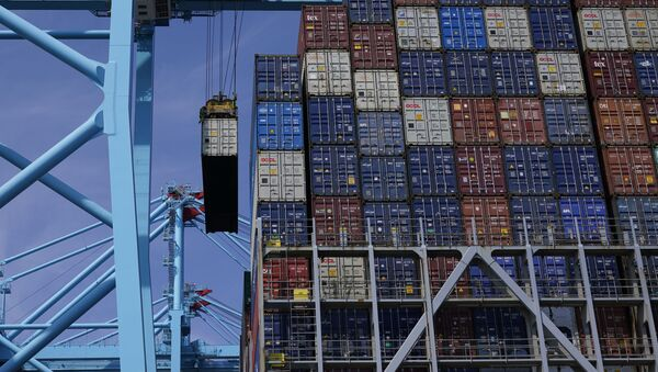 Грузовые контейнеры, фото из архива - Sputnik Азербайджан