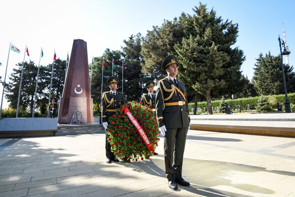 Мероприятие в связи со 103-й годовщиной освобождения города Кавказской исламской армией. - Sputnik Азербайджан