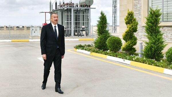 Президент Ильхам Алиев принял участие в открытии подстанции Бузовна-1 в Хазарском районе Баку - Sputnik Азербайджан