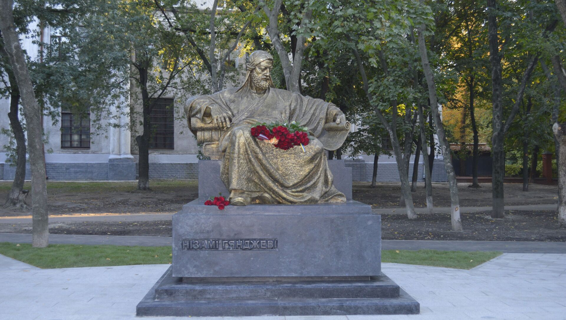 Открытие Памятника Великому Низами в Харькове - Sputnik Azərbaycan, 1920, 16.09.2021