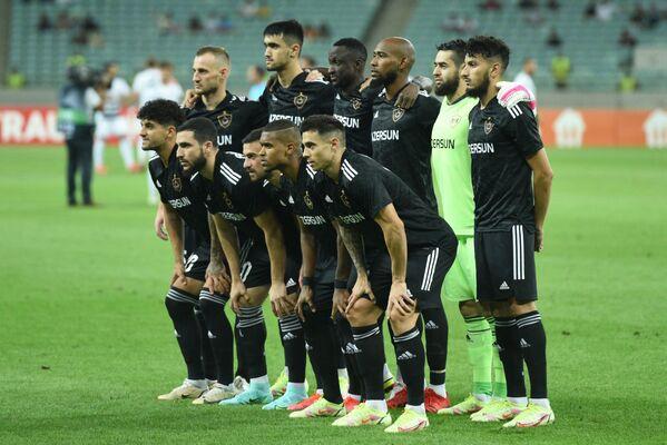 FK Qarabağ klubunun futbolçuları  Konferensiya Liqasının qrup mərhələsinin ilk turunda Bazel komandasına qarşı matçdan əvvəl. - Sputnik Azərbaycan