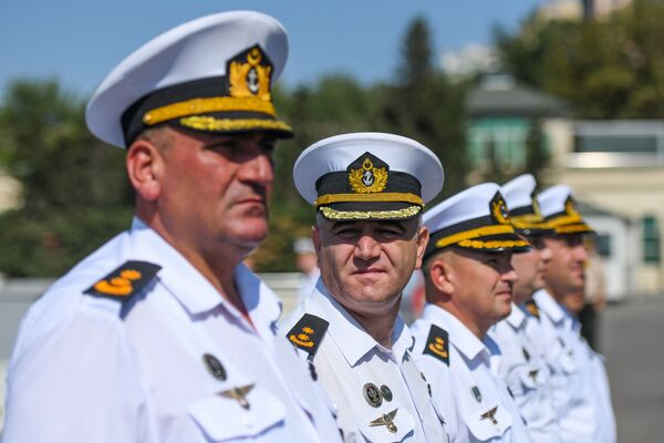 Военные Военно-морского флота Азербайджана на территории Бакинского морского порта. - Sputnik Azərbaycan