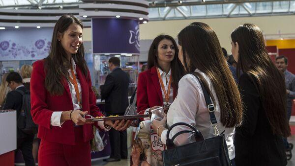 Международная выставка продуктов питания в Москве - Sputnik Azərbaycan