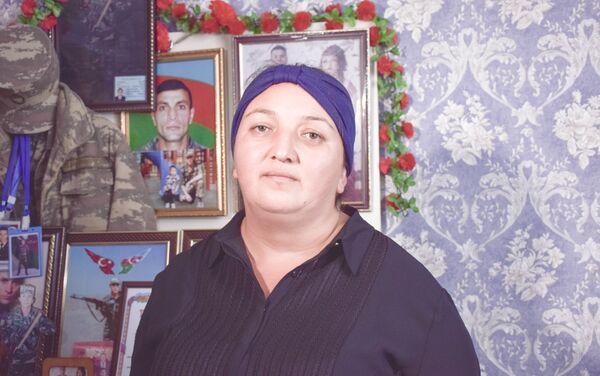 Şəhidin həyat yoldşı Aytəkin Məmmədova - Sputnik Azərbaycan