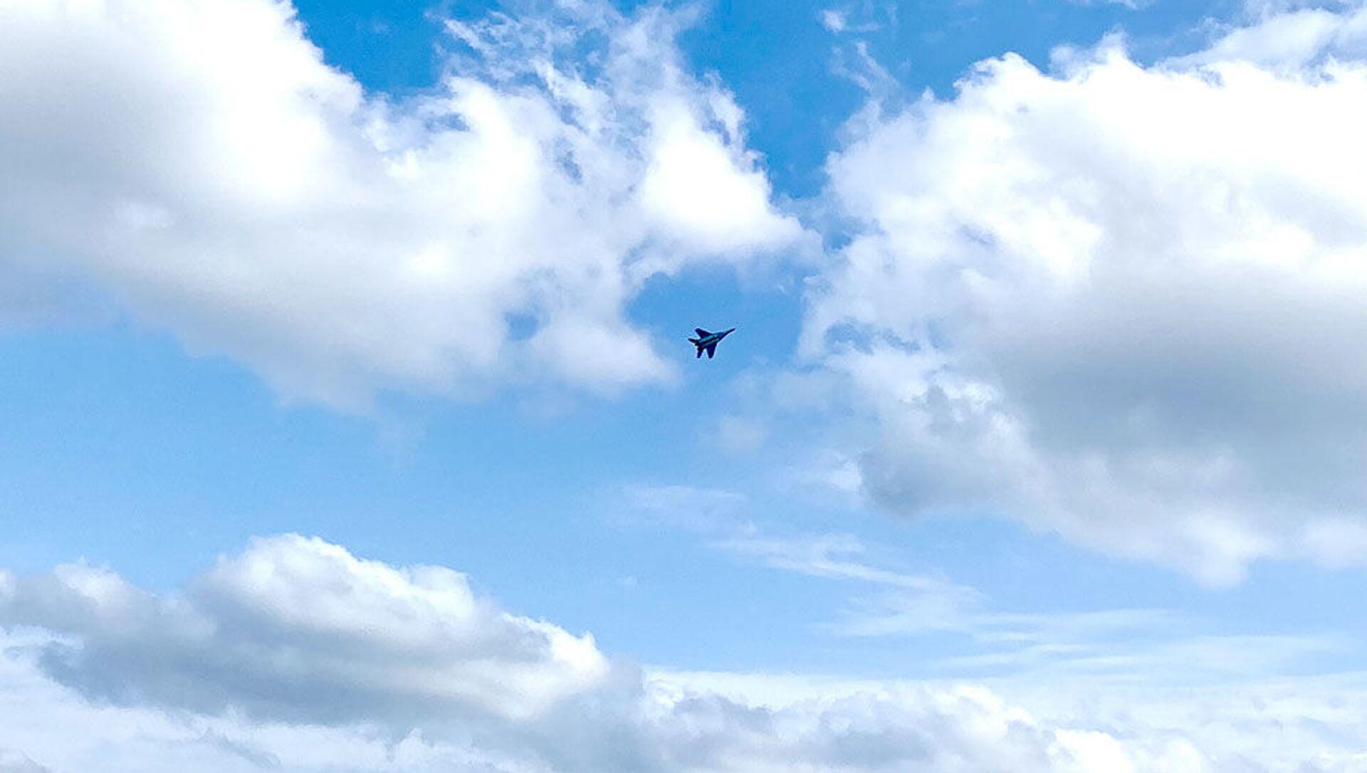 Истребитель МиГ-29 ВВС Азербайджана совершил первый полет на фестивале «Технофест-2021» - Sputnik Азербайджан, 1920, 21.09.2021