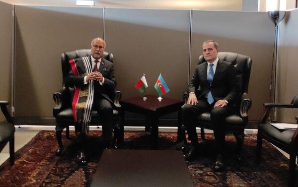 Джейхун Байрамов с главой МИД Мадагаскара Патриком Раджоэлиной - Sputnik Азербайджан