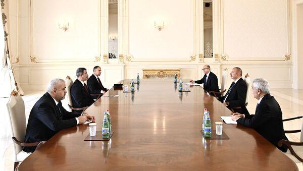 Prezident İlham Əliyev İraqın neft nazirini qəbul edib - Sputnik Азербайджан