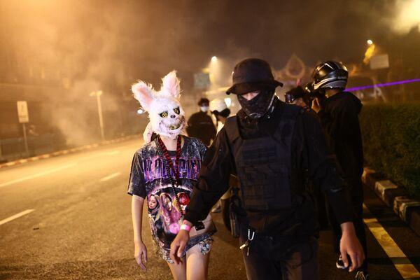 Антиправительственные протестующие в Бангкоке. - Sputnik Азербайджан