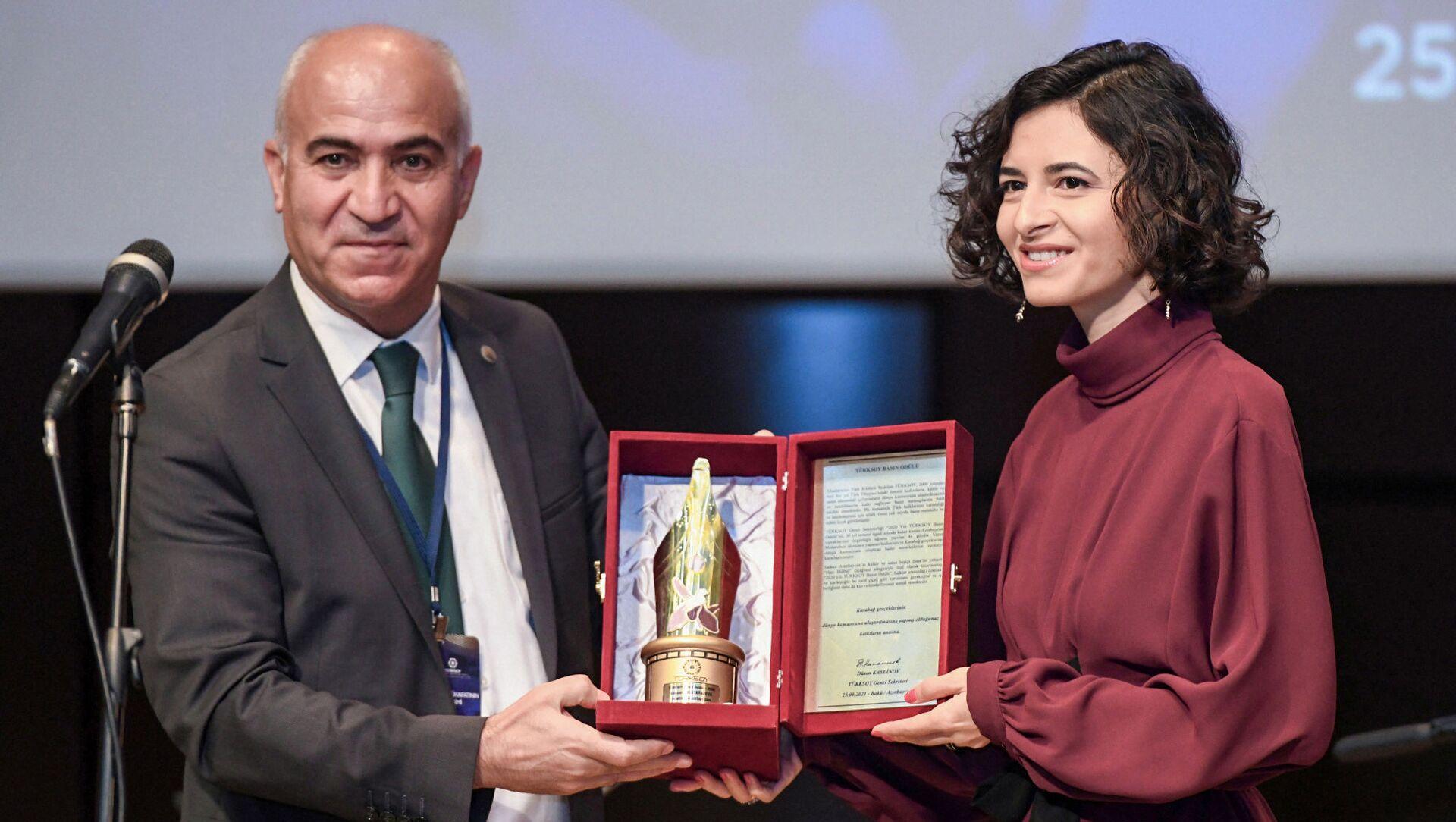 Церемония награждения премии TURKSOY Press Award  - Sputnik Azərbaycan, 1920, 25.09.2021