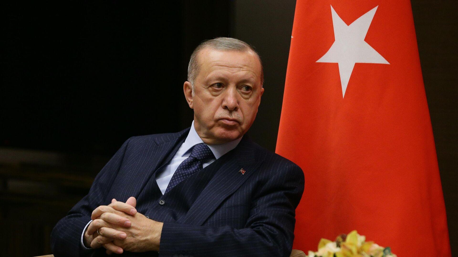 Türkiyə Prezidenti Rəcəb Tayyib Ərdoğan - Sputnik Azərbaycan, 1920, 30.09.2021