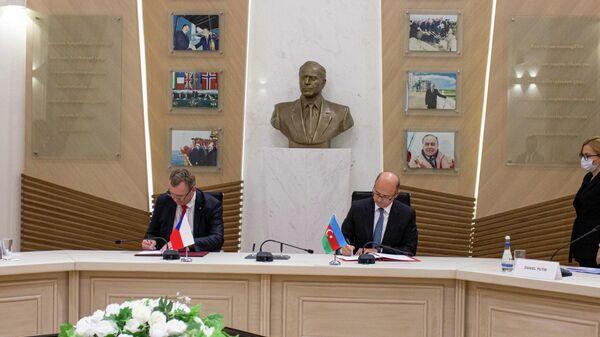 Церемония подписания соглашения в области энергетики между Азербайджаном и Чехией - Sputnik Азербайджан