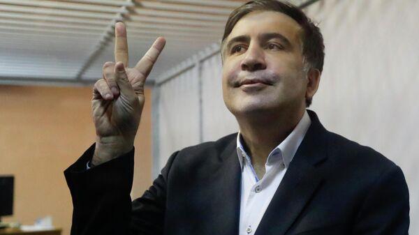 Mixail Saakaşvili, arxivdən foto - Sputnik Азербайджан