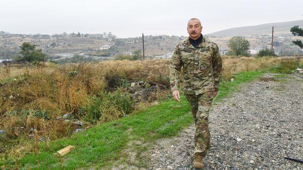 Prezident İlham Əliyev Tərtər rayonunun Talış kəndində - Sputnik Azərbaycan