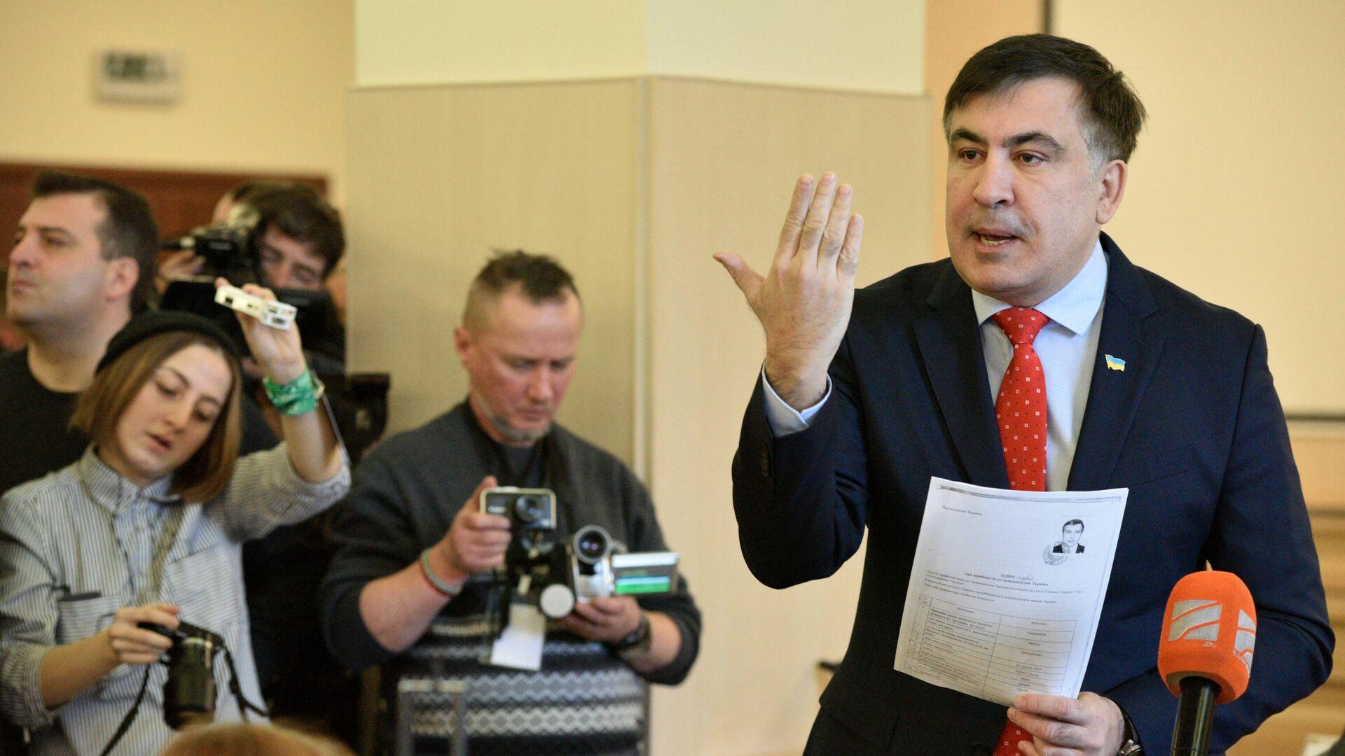 Экс-президент Грузии, бывший губернатор Одесской области Михаил Саакашвили  - Sputnik Азербайджан, 1920, 04.10.2021