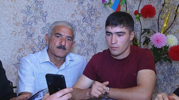 Vətən müharibəsi iştirakçısı Elvin Mədətov atası Şərif Mədətovla birgə - Sputnik Azərbaycan