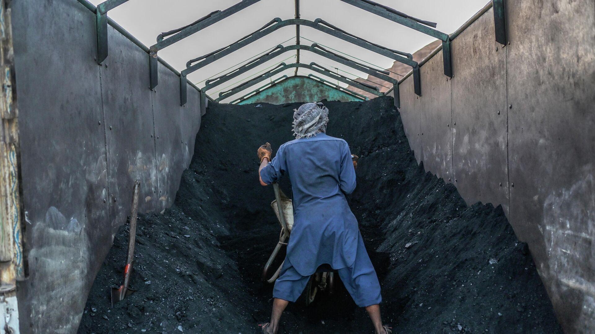 Kömür daşıyan işçi - Sputnik Azərbaycan, 1920, 07.10.2021