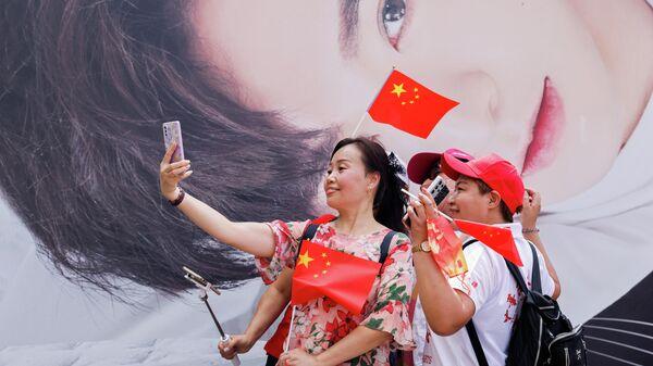 Празднование дня Китая в Гонконге - Sputnik Азербайджан